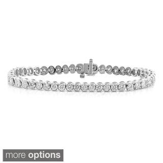 Auriya 14k Gold 7ct TDW Diamond Tennis Bracelet (I-J, I1-I2)