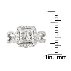 14k White Gold 3 1/8ct TDW Princess-Cut Diamond Engagement Ring (G-H, SI2)