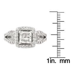 14k White Gold 2 1/10ct TDW Engagement Ring (G-H, SI2)