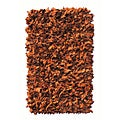 Premium Leather Shag Brown Area Rug (3'6 x 5'6)