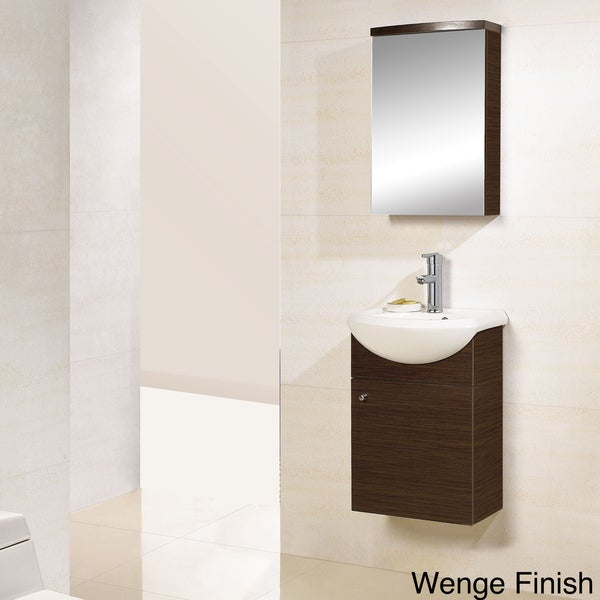 DreamLine Wall-mounted Modern Bathroom Vanity with Medicine Cabinet