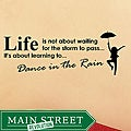 Vinyl 'Life is Not About Waiting for the Storm to Pass' Wall Decal