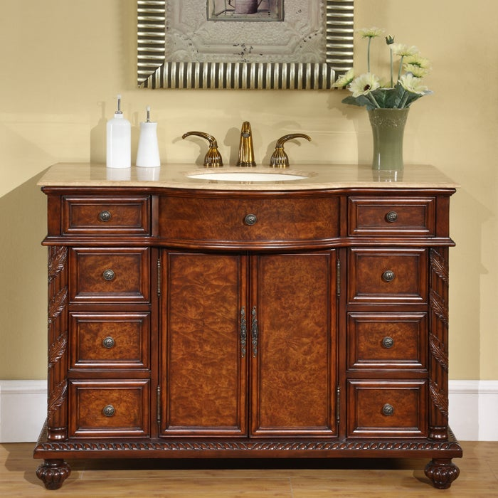 Exclusive Marble Stone Top 48inch Single Sink Cabinet Bathroom Vanity