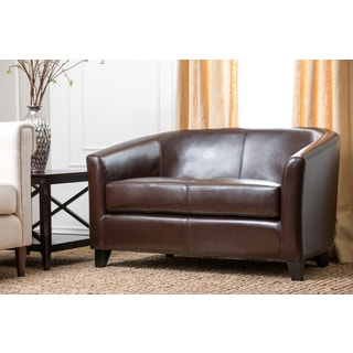 Abbyson Living Montecito Bicast Leather Loveseat