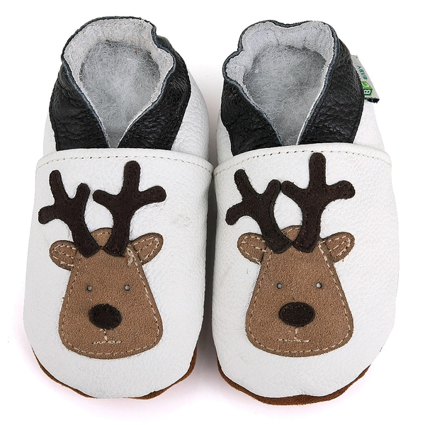 Reindeer Soft Sole Leather Baby Shoes