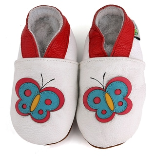 Butterfly Soft Sole Leather Baby Shoes