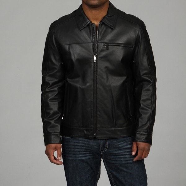 Andrew Marc Men's DV Rider Washed Lamb Leather Jacket FINAL SALE