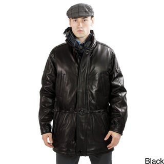 United Face Men's 3/4-length Classic Lambskin Leather Jacket