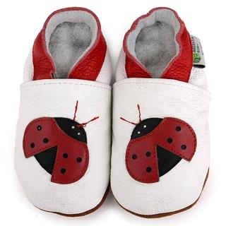 Ladybug Soft Sole Leather Baby Shoes