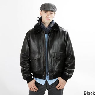United Face Men's Military G1 Leather Flight Bomber Jacket