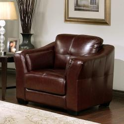 Abbyson Living Torrance Premium Top-grain Leather Armchair