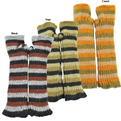 Wool Fleece-Lined Striped Handwarmers (Nepal)