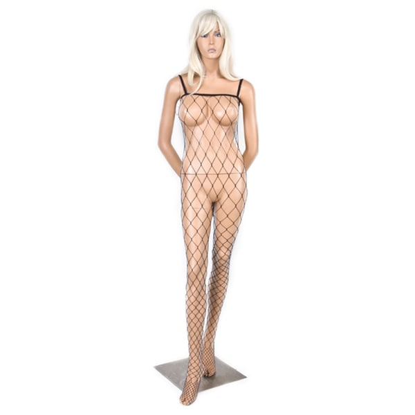 Hustler Crotchless Black Fencenet Bodystocking