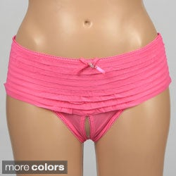 Hustler Crotchless Ruffle Booty Shorts (Set of 2)