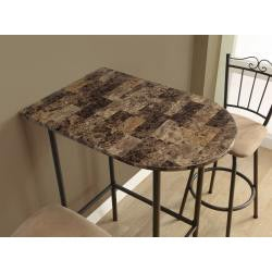 Cappuccino Marble 24x36-inch Spacesaver Bar Table