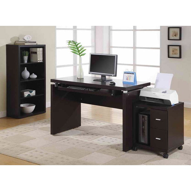 Cappuccino 2 Drawer Computer Stand Overstock Shopping