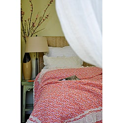 Addie Floral Pink Quilt Set