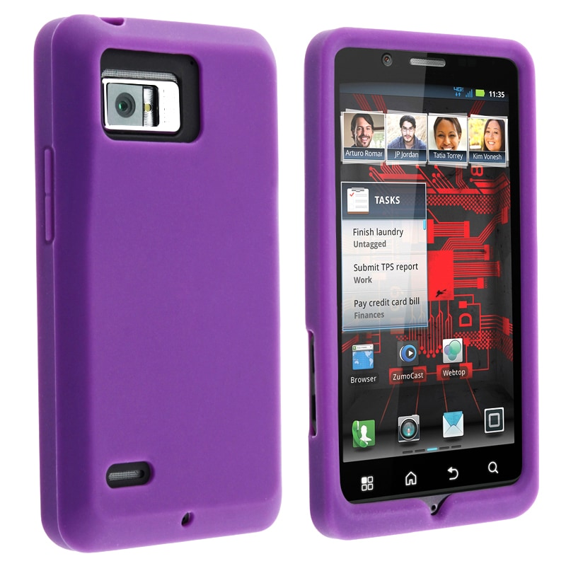 Purple Silicone Skin Case for Motorola Droid Bionic XT875