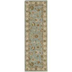 Nourison Hand-tufted Caspian Blue Wool Rug (2'3 x 7'6)