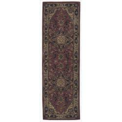 "Nourison Hand-Tufted Caspian 100 Percent Red Wool Rug (2'3"" x 7'6"")"