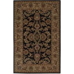 "Nourison Hand-Tufted Caspian Floral Black Wool Rug (2'6"" x 4')"
