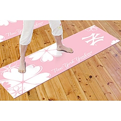 Fanmats Pink/White New York Yankees 100-percent PVC Yoga Mat