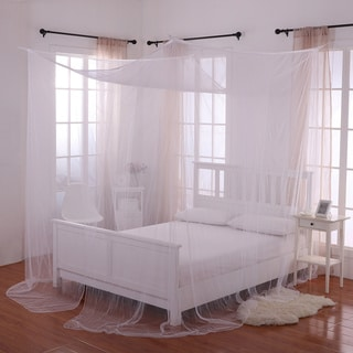 Palace 4-Post Sheer Panel Bed Canopy