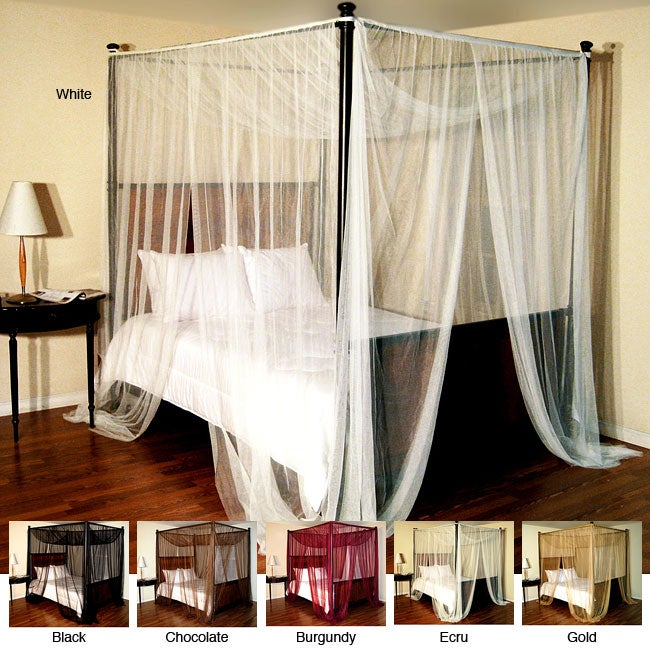 Palace four poster bed canopy overstock shopping top rated bed canopies - Bedspreads for four poster beds ...