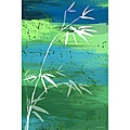 Maxwell Dickson Osaka Green Canvas Wall Art