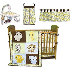 Trend Lab Chibi Zoo 7-piece Crib Bedding Set