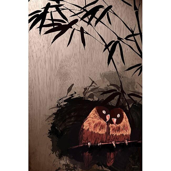 Maxwell Dickson 'Love Birds' Canvas Wall Art