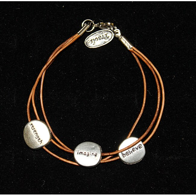 'Imagine' Leather Bracelet