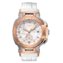Tissot Women's T0482172701700 T-Race White Quartz Sport Watch
