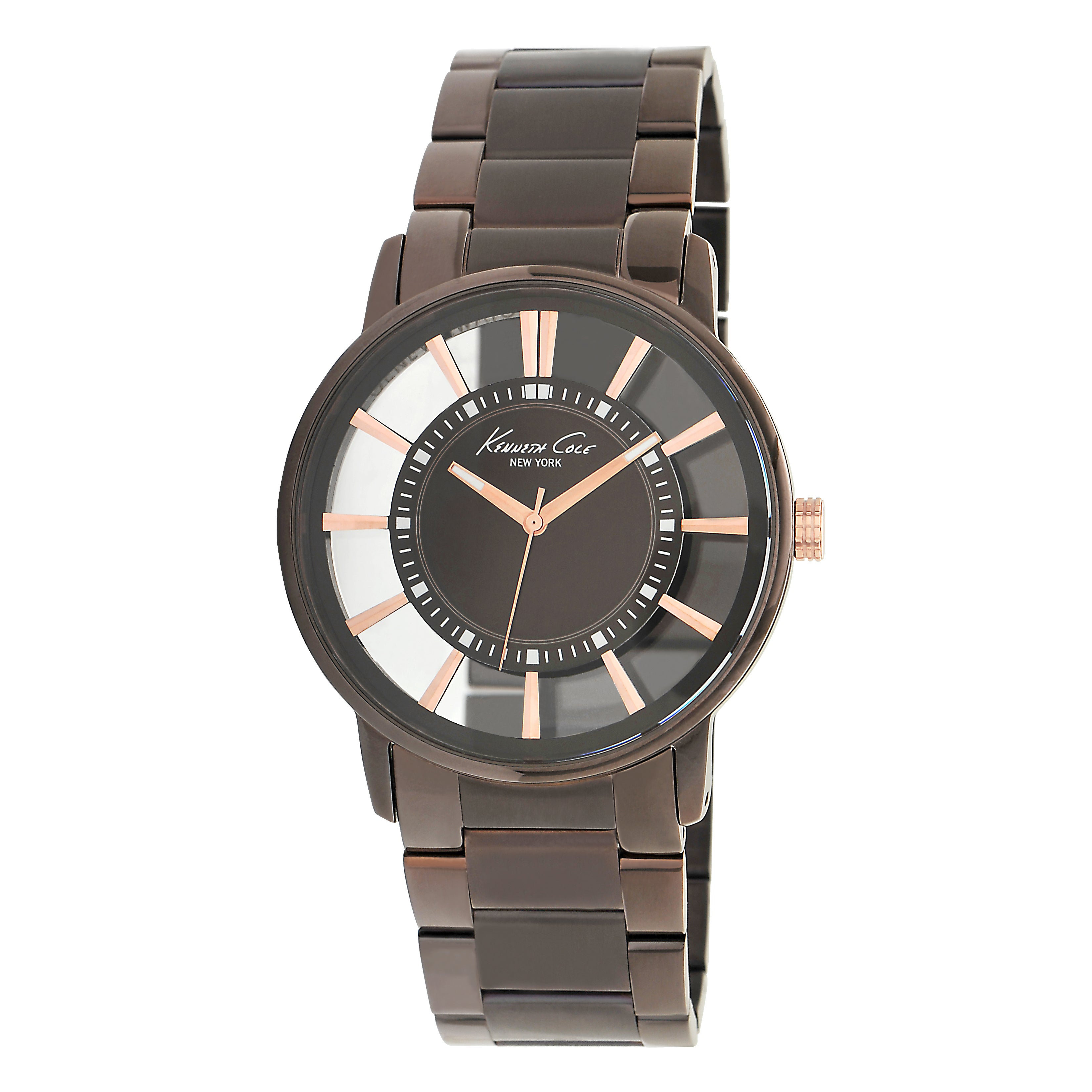 Kenneth Cole New York Men's Transparency Brown Steel Watch