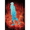Maxwell Dickson 'Bike Man' Canvas Wall Art
