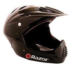 Razor Youth Gloss Black Full Face Bicycle Helmet