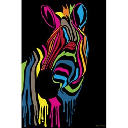 Maxwell Dickson 'Zebra Stripes' Canvas Wall Art