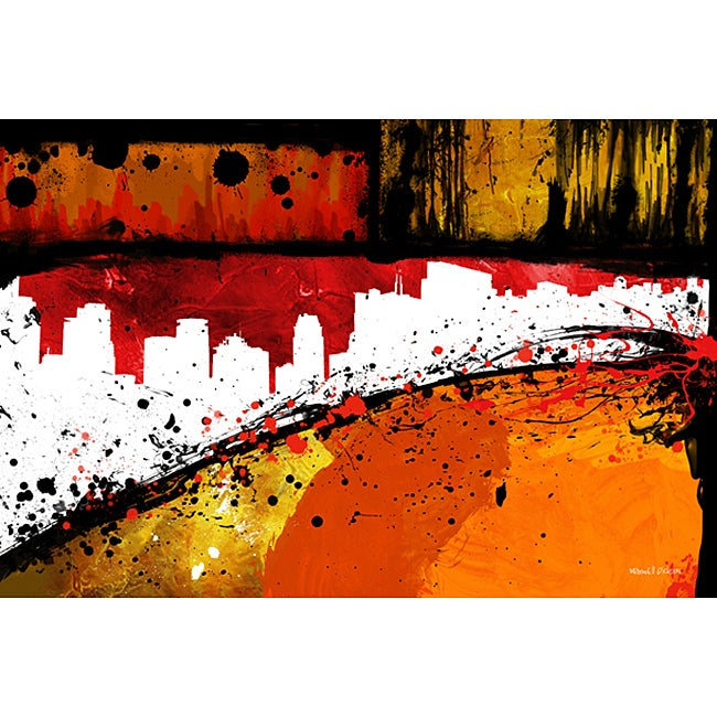 Maxwell Dickson 'Streets of Gold' Canvas Wall Art