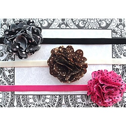 Itty Bitty Satin Flower Headband 3-pc Set