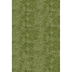 Handmade Posh Shag Apple Green Rug (3' x 5')