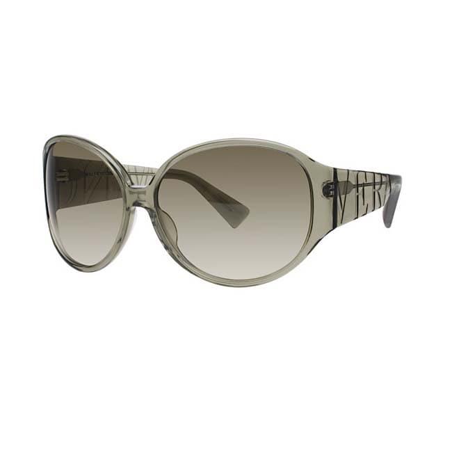 Vera Wang Women's Olive Crystal Plastic Sunglasses