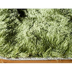 Handmade Posh Apple Green Shag Rug (5' x 7')