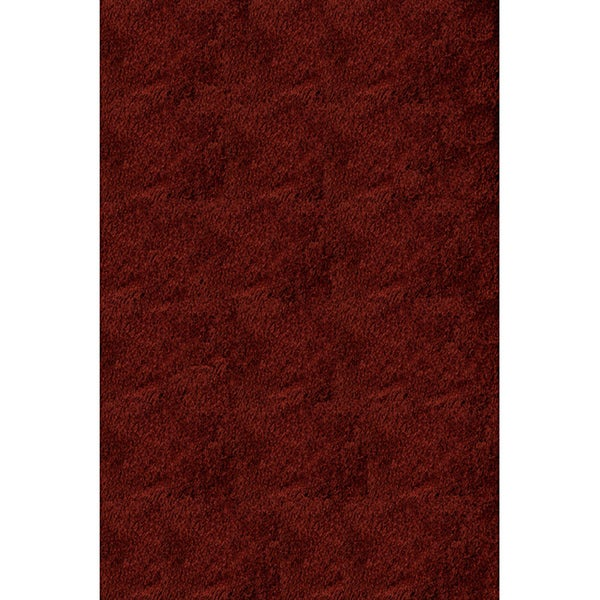 Handmade Posh Brick Red Shag Rug (5' x 7')