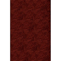 Handmade Posh Red Shag Rug (5' x 7')