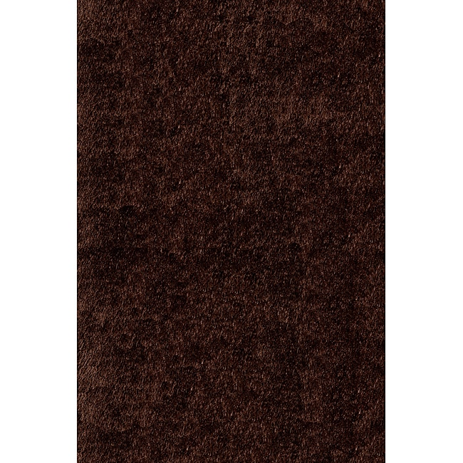 Handmade Posh Chocolate Brown Shag Rug (5' x 7')