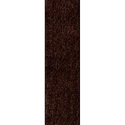Handmade Posh Chocolate Brown Shag Rug (2'3 x 8')
