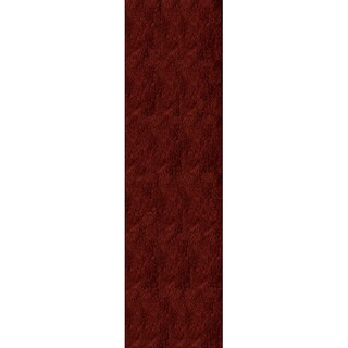 Hand-Tufted Posh Shag Brick Red Rug (2'3 x 8')