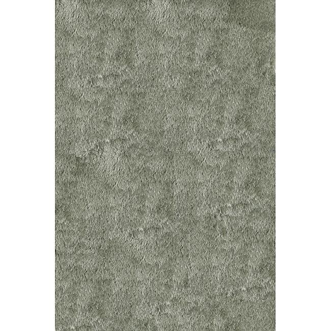 Handmade Posh Mint Green Shag Rug (5' x 7')