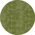 Handmade Posh Shag Apple Green Round Rug (4' x 4')