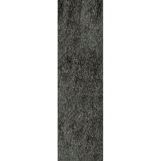 Hand-Tufted Posh Shag Charcoal Rug (2'3 x 8')